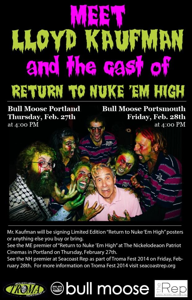 2 Chances to Meet Lloyd Kaufman!